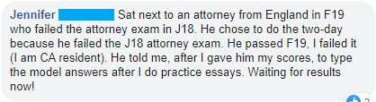 California Attorneys' Exam experience 2