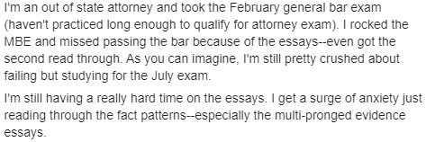 California Attorneys' Exam experience 3